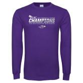 Purple Long Sleeve T Shirt-WIAC 2017 Womens Tennis Champions