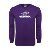Purple Long Sleeve T Shirt-Gymnastics