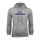 Grey Fleece Hoodie-Warhawks w/Warhawk Head