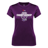 Ladies Syntrel Performance Purple Tee-35th WIAC Championship - Football 2016