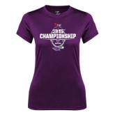 Ladies Syntrel Performance Purple Tee-35th WIAC Championship - Football 2016