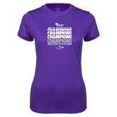 Ladies Syntrel Performance Purple Tee-WIAC Softball Champions