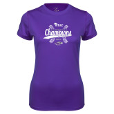 Ladies Syntrel Performance Purple Tee-WIAC Baseball Champions