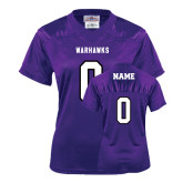 Ladies Purple Replica Football Jersey-Personalized