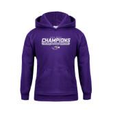 Youth Purple Fleece Hoodie-2016 WIAC Champions Wrestling