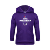 Youth Purple Fleece Hoodie-35th WIAC Championship - Football 2016