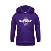 Youth Purple Fleece Hoodie-35th WIAC Championship - Football 2016
