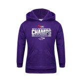 Youth Purple Fleece Hoodie-2017 WIAC Conference Champs Wrestling