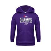 Youth Purple Fleece Hoodie-2017 WIAC Conference Champs Wrestling
