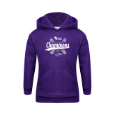 Youth Purple Fleece Hoodie-WIAC Softball Champions
