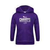 Youth Purple Fleece Hoodie-WIAC Baseball Champions