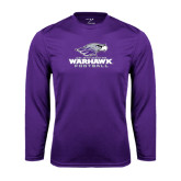 Performance Purple Longsleeve Shirt-Football