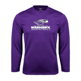 Performance Purple Longsleeve Shirt-Basketball