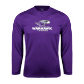 Performance Purple Longsleeve Shirt-Tennis