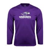 Syntrel Performance Purple Longsleeve Shirt-Track & Field