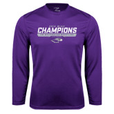 Performance Purple Longsleeve Shirt-2016 WIAC Champions Wrestling