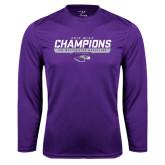 Syntrel Performance Purple Longsleeve Shirt-2016 WIAC Champions Wrestling
