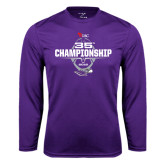 Performance Purple Longsleeve Shirt-35th WIAC Championship - Football 2016