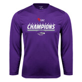 Performance Purple Longsleeve Shirt-WIAC Volleyball Champions 2016
