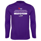 Performance Purple Longsleeve Shirt-2017 WIAC Champions Wrestling