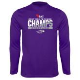 Syntrel Performance Purple Longsleeve Shirt-2017 WIAC Conference Champs Wrestling