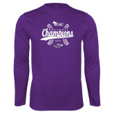 Performance Purple Longsleeve Shirt-WIAC Softball Champions