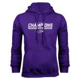 Purple Fleece Hoodie-2016 WIAC Champions Wrestling