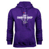 Purple Fleece Hoodie-35th WIAC Championship - Football 2016