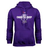 Purple Fleece Hoodie-35th WIAC Championship - Football 2016