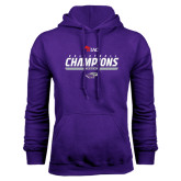 Purple Fleece Hoodie-WIAC Volleyball Champions 2016