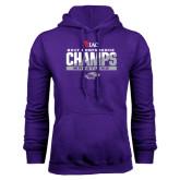Purple Fleece Hoodie-2017 WIAC Conference Champs Wrestling