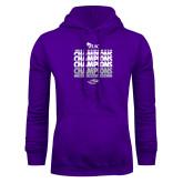 Purple Fleece Hoodie-WIAC Softball Champions