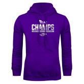 Purple Fleece Hoodie-WIAC Baseball Champions