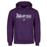 Purple Fleece Hoodie-WIAC 2017 Womens Tennis Champions