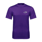 Performance Purple Tee-Warhawk Head