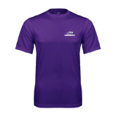 Performance Purple Tee-Warhawks w/Warhawk Head