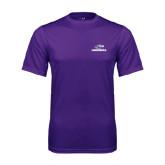 Syntrel Performance Purple Tee-Warhawks w/Warhawk Head