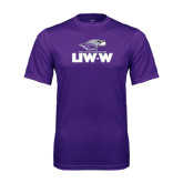 Performance Purple Tee-UW-W w/Warhawk Head