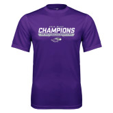 Performance Purple Tee-2016 WIAC Champions Wrestling