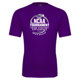 Performance Purple Tee-Third Straight NCAA Tournament Appearance - Mens Soccer 2016