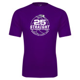 Performance Purple Tee-25th Straight NCAA Tournament Appearance - Womens Volleyball 2016