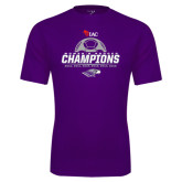 Performance Purple Tee-WIAC Womens Soccer Champions - Six in Seven Years