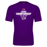 Performance Purple Tee-35th WIAC Championship - Football 2016