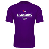 Performance Purple Tee-WIAC Volleyball Champions 2016