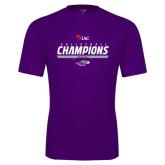 Syntrel Performance Purple Tee-WIAC Volleyball Champions 2016