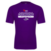 Performance Purple Tee-2017 WIAC Champions Wrestling