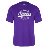 Performance Purple Tee-WIAC Softball Champions