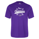 Performance Purple Tee-WIAC Baseball Champions