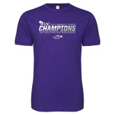 Next Level SoftStyle Purple T Shirt-WIAC 2017 Womens Tennis Champions