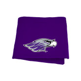 Purple Sweatshirt Blanket-Warhawk Head